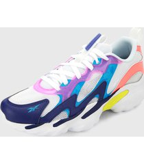 tenis lifestyle blanco-multicolor reebok dmx series 1000