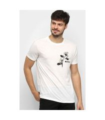 camiseta osklen rustic eco rose masculina