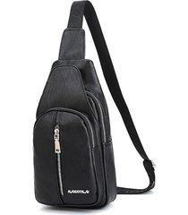uomo casual multi-tasca sling borsa petto borsa crossbody borsa per gli uomini