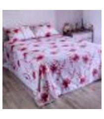 jogo de cama duplo queen percal 180 fios 100% algodão macau