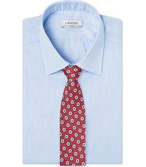 cravatta su misura, lanieri, roma seta rosso, quattro stagioni | lanieri
