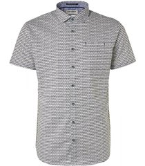 no excess 96440415 all over printed short sleeve shirt 055 olive no-excess