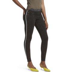 kendall + kylie stripe denim leggings