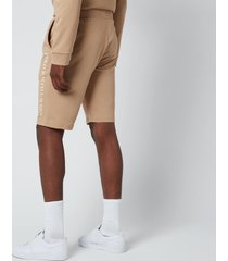 polo ralph lauren men's loopback jersey slim shorts - vintage khaki - xl