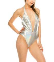 kendall + kylie halter sash 1 piece swimsuit women's swimsuit