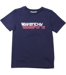 givenchy deep blue cotton jersey t-shirt