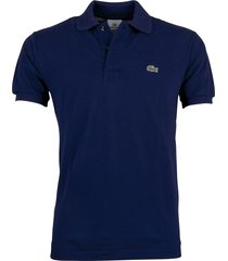 lacoste polo regular fit donkerblauw l1212/166