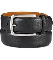 club room men's pebble-grain belt, created for macy's