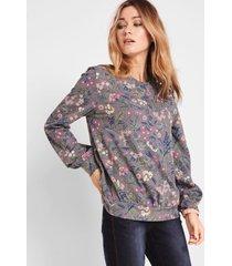 gedessineerde sweater met wijde mouwen