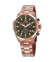relógio cronógrafo seculus masculino - 20819gpsgrs1 rosê