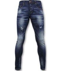 basic broek - jeans verf - d3065