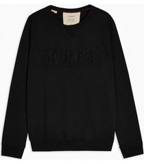 mens selected homme black organic cotton sweatshirt