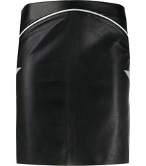 jessie western star patch mini skirt - black