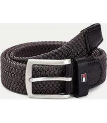 tommy hilfiger men's flag stretch belt pewter grey - 44