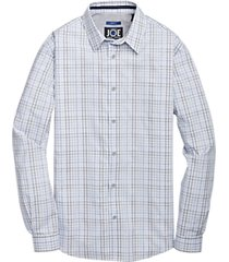 joe joseph abboud repreve® lavender multi check sport shirt