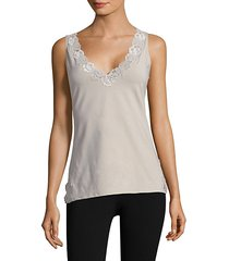v-neck lace tank top