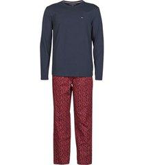 pyjama's / nachthemden tommy hilfiger ls pant woven set