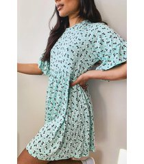 ditsy floral smock dress, mint