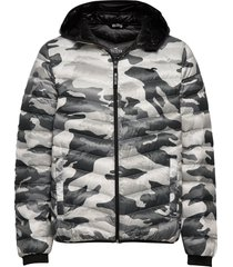 down mw puffer gevoerd jack multi/patroon hollister