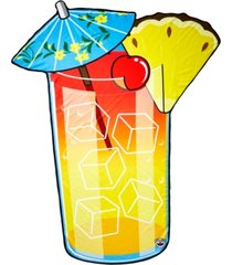 tropical drink beach blanket