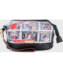 estuche negro-multicolor nicole lee