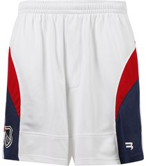 hockey shorts, white