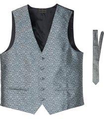 gilet e cravatta (set 2 pezzi) (argento) - bpc selection