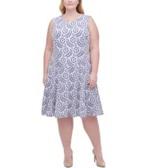 tommy hilfiger plus size lace fit & flare dress