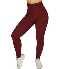 calça legging diluxo tecido bolha vinho