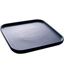 conjunto 2 pratos porcelana nórdica azul escuro matt 21x21x2cm
