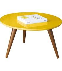 mesa de centro decorativa lyam decor sofia amarelo - amarelo - dafiti