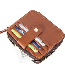 cartera para hombre- conjunto de tarjeta de paquete-marrón