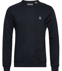 small logo crew neck sweatshirt sweat-shirt trui blauw original penguin