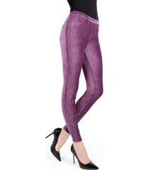memoi thin ribbed corduroy women's leggings