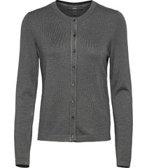 sweaters cardigan stickad tröja cardigan grå esprit collection