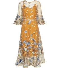 granegz dress hs19 jurk knielengte geel gestuz