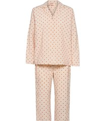 dot pyjamas set pyjamas beige becksöndergaard