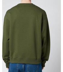 kenzo men's tiger classic sweatshirt - dark khaki - xxl