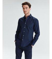 camisa azul equus silvano slim fit