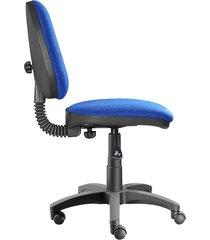 silla oficina  platina media azul rey ref:2041
