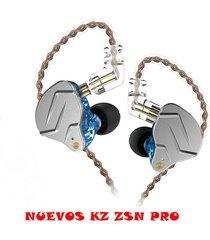 audífonos kz® zsn pro monitores in ear fidelidad sin micrófono - azul