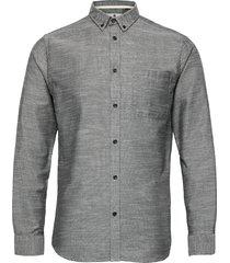 akkonrad ls oxford skjorta casual grå anerkjendt