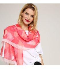 sciarpa di scialle calda sottile casuale stampata di amore della miscela del cotone delle donne 180cm soft