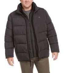 calvin klein men's big & tall full-zip puffer coat, created for macy's
