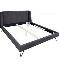 łóżko stelaż beaute retro antracyt 180x200cm