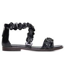 sandália feminina spot - preto
