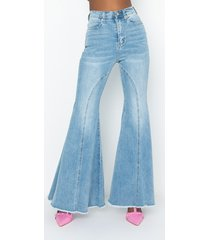 akira trust the process high waisted super flare jeans