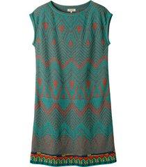 jacquard-gebreide jurk met pastelkleurige motieven, kleurrijk