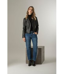 jeans cropped para mujer denim arrugas 3d