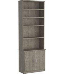 estante livraria 2 portas 1277 demoliã§ã£o m foscarini - marrom - dafiti